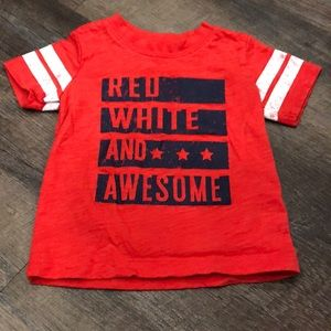 """""""Red, White, and Awesome"""" T-shirt - 12M"""